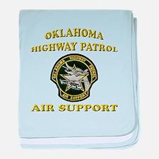 Oklahoma Highway Patrol Air U baby blanket
