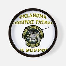 Oklahoma Highway Patrol Air U Wall Clock
