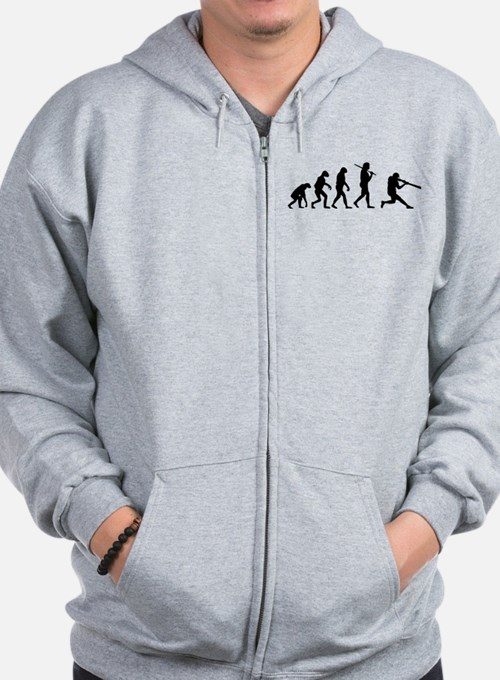The Evolution Of The Baseball Batter Zip Hoodie
