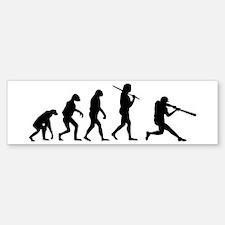 The Evolution Of The Baseball Batter Bumper Bumper Sticker