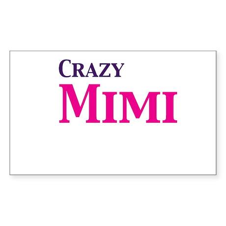Crazy Mimi Sticker (Rectangle)