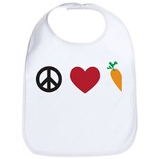 Peace Love Carrots Bib