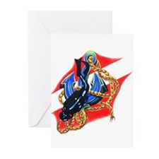 Scuba Diver Greeting Cards (Pk of 10)