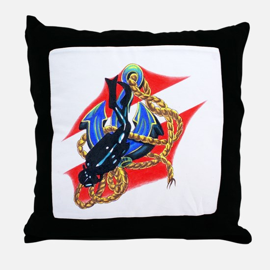Scuba Diver Throw Pillow