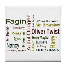 Oliver Twist Folks Tile Coaster