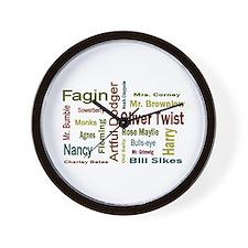 Oliver Twist Folks Wall Clock