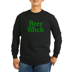 Beer Bitch Long Sleeve Dark T-Shirt