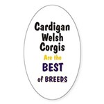 Cardigan Welsh Corgi Best Oval Sticker