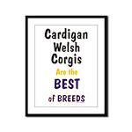 Cardigan Welsh Corgi Best Framed Panel Print