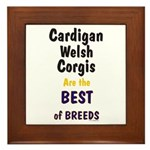 Cardigan Welsh Corgi Best Framed Tile