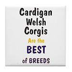 Cardigan Welsh Corgi Best Tile Coaster