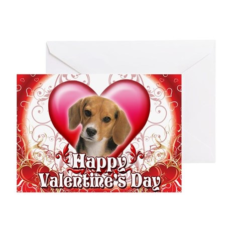 Happy Valentine's Day Beagle Greeting Cards (Pk of