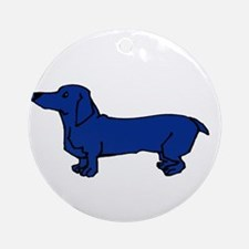Blue Dog Ornament (Round)