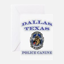Dallas Police K9 Unit Greeting Card