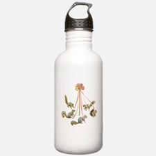 May Day Squirrels Water Bottle