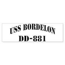 USS BORDELON Bumper Sticker