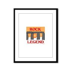 ROCK LEGEND Framed Panel Print