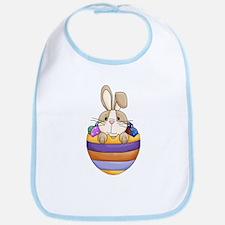 Easter Bunny Inside Easter Egg Baby Bib