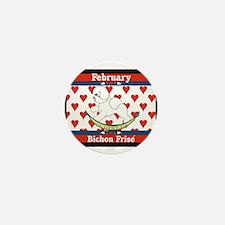Bichon Frise Calendar Dog Mini Button
