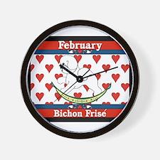 Bichon Frise Calendar Dog Wall Clock