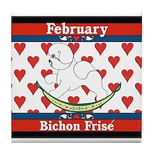 Bichon Frise Calendar Dog Tile Coaster