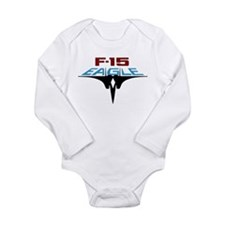 Cute F 15 eagle Long Sleeve Infant Bodysuit