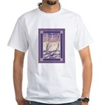 Sunset Marsh Batik White T-Shirt