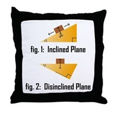Disinclined Plane Throw Pillow