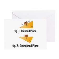 Disinclined Plane Greeting Card