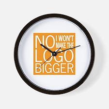 No Big Logos Wall Clock