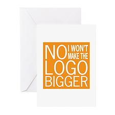 No Big Logos Greeting Cards (Pk of 10)