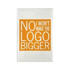 No Big Logos Rectangle Magnet
