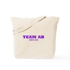 """""""Team AB (Purple)"""" Tote Bag"""