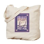 Sunset Marsh Batik double sided Tote Bag