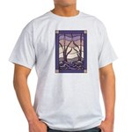 Sunset Marsh Stained Glass Ash Grey T-Shirt