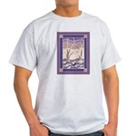 Sunset Marsh Batik Ash Grey T-Shirt
