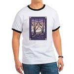 Sunset Marsh Stained Glass Ringer T