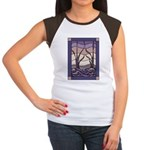 Sunset Marsh Stained Glass Women's Cap Sleeve T-Sh