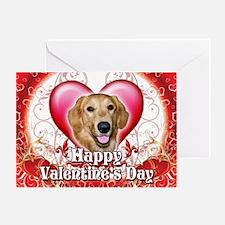 Happy Valentine's Day Golden Greeting Card