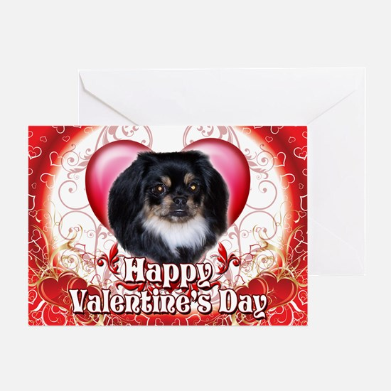 Happy Valentine's Day Pekingn Greeting Card