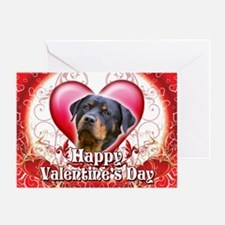 Happy Valentine's Day Rottwei Greeting Card