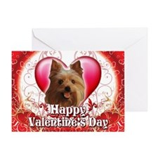Happy Valentine's Day Yorkie Greeting Card