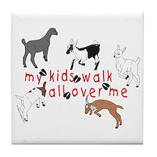 my kids walk... Tile Coaster