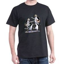 pEnGuInS sWiNgInG Black T-Shirt