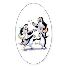 pEnGuInS sWiNgInG Oval Decal