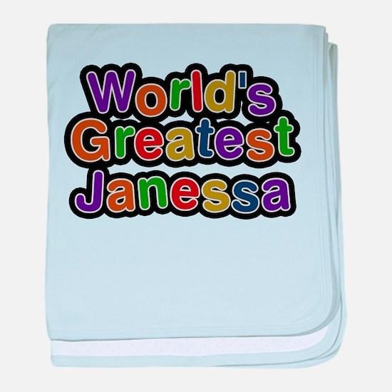 Worlds Greatest Janessa baby blanket