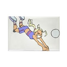 VOLLEYBALL PLAYER {4} Rectangle Magnet
