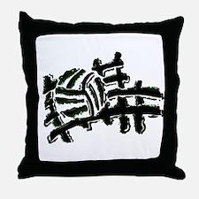 VOLLEYBALL {13} : green Throw Pillow