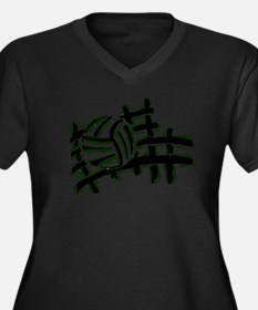 VOLLEYBALL {13} : green Women's Plus Size V-Neck D