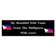 Beautiful Wife Bumper Car Sticker